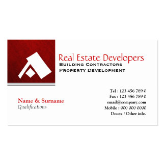 Property real estate monogram A Business Card Template