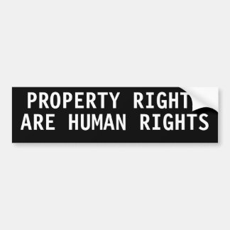 Property rights are human rights bumper stickers