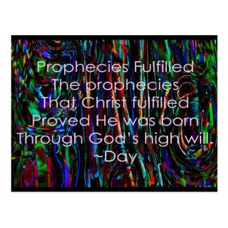 Prophecies Fulfilled Postcard