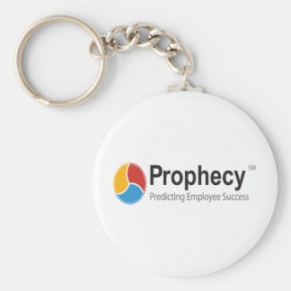 Prophecy logo basic round button key ring