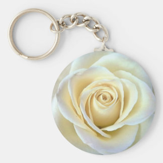 Prophecy of the Sisters White Rose Keychain
