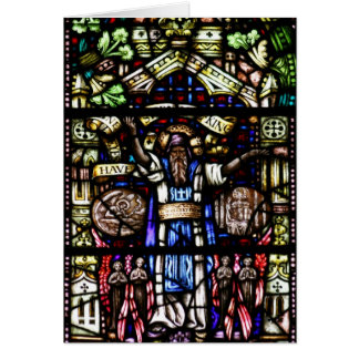 Prophet Isaiah Stained Glass Art Greeting Card