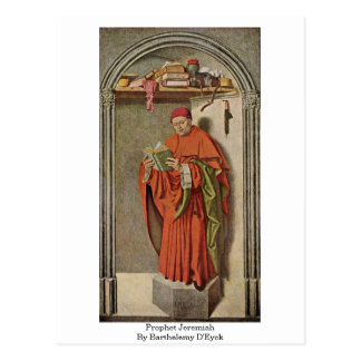 Prophet Jeremiah By Barthelemy D'Eyck Post Cards