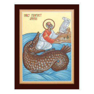 Prophet Jonah Prayer Card Postcard