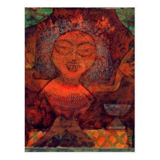 Prophetic woman, 1923 postcard