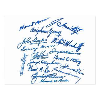 Prophets Autographs Postcard