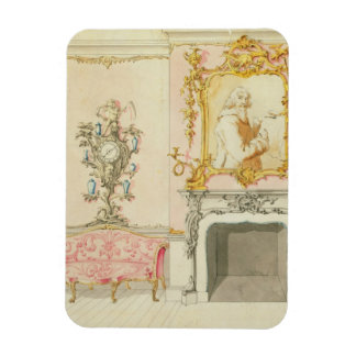Proposal for a drawing room interior, 1755-60 (w/c rectangular magnet