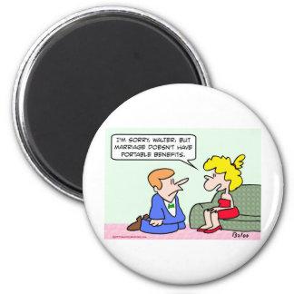 proposal marriage portable benefits fridge magnet