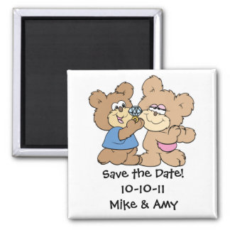 proposal wedding bears save the date magnet