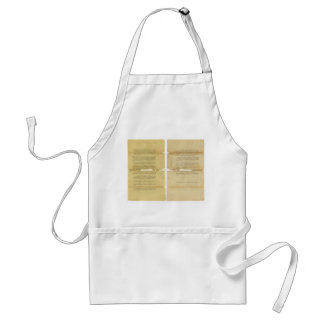 Proposed Amendments to the U.S. Constitution 1789 Adult Apron
