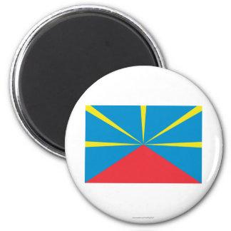 Proposed Reunion Island Flag 6 Cm Round Magnet