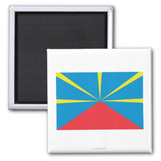 Proposed Reunion Island Flag Square Magnet