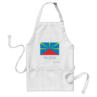 Proposed Reunion Island Flag with Name Apron