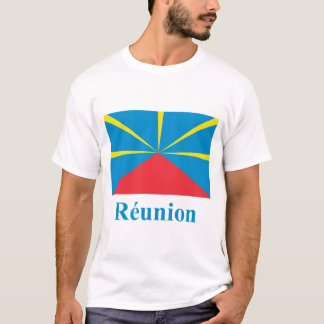 Proposed Reunion Island Flag with Name in French T-Shirt