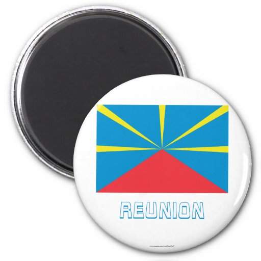 Proposed Reunion Island Flag with Name Fridge Magnets
