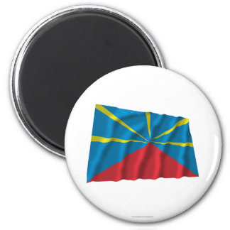 Proposed Reunion Island Waving Flag Refrigerator Magnet