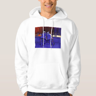 Propping up the bar hoodie