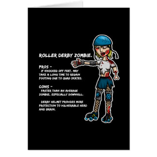 Pros and Cons Roller Derby Zombie Card