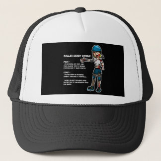 Pros and Cons Roller Derby Zombie Trucker Hat