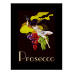 Prosecco Wine  Maid Vintage Lady Posters