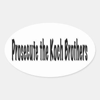 Prosecute the Koch Brothers Oval Sticker