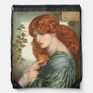 Proserpine by Dante Gabriel Rossetti Drawstring Bag