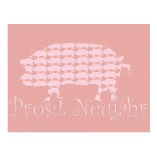 Prosit Neujahr Postcard