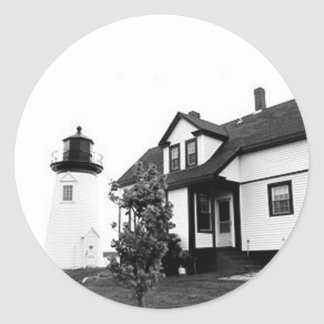 Prospect Harbor Point Lighthouse Round Stickers