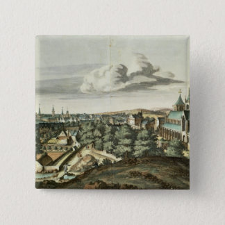 Prospect of the Town of Glasgow 15 Cm Square Badge