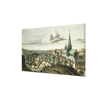 Prospect of the Town of Glasgow Canvas Print