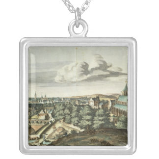 Prospect of the Town of Glasgow Silver Plated Necklace