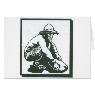 prospector greeting card