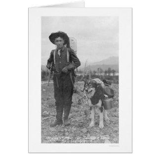 Prospector Dog Seward, Alaska 1904 Greeting Card