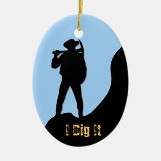 Prospector - I Dig It Ceramic Oval Decoration