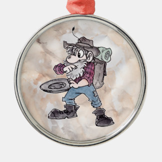 Prospector Silver-Colored Round Decoration