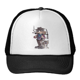 Prospector with Dog Mesh Hats