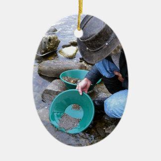 Prospectors Gold Panning Mug Christmas Ornament