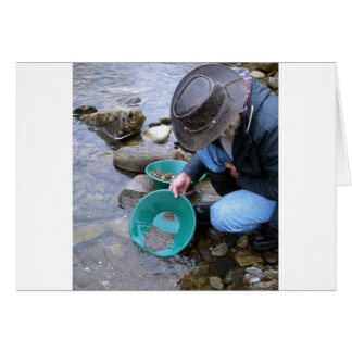 Prospectors Gold Panning Mug Greeting Card