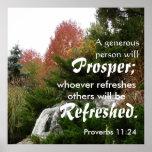 Prosper bible verse Proverbs 11:25 Poster