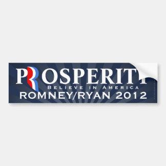 Prosperity Romney Ryan 2012 Believe in America Bumper Stickers