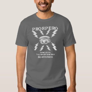 PROSPERO!  Magician T Shirt Front & Back Design