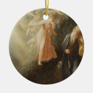 Prospero, Miranda and Ariel, from 'The Tempest', c Round Ceramic Decoration