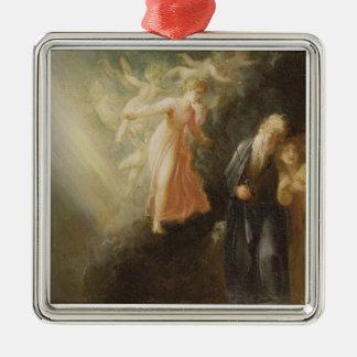 Prospero, Miranda and Ariel, from 'The Tempest', c Silver-Colored Square Decoration