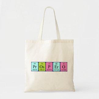 Prospero periodic table name tote bag