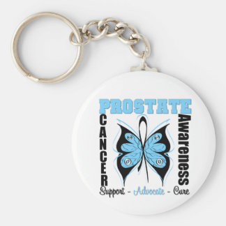 Prostate Cancer Awareness Butterfly Key Chain