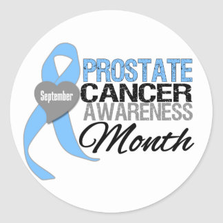 Prostate Cancer Awareness Month Draped Ribbon 2 Stickers
