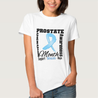 Prostate Cancer Awareness Month Wispy Ribbon Tee Shirt