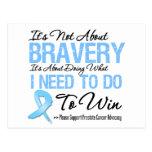 Prostate Cancer Battle Postcard