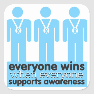 Prostate Cancer Everyone Wins With Awareness Square Sticker