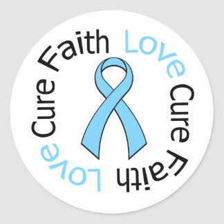 Prostate Cancer Faith Love Cure Stickers